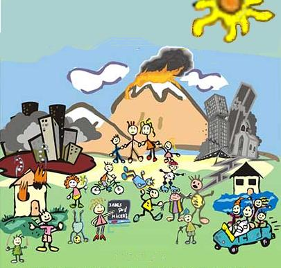 Dibujos infantiles de desastres naturales  Imagui